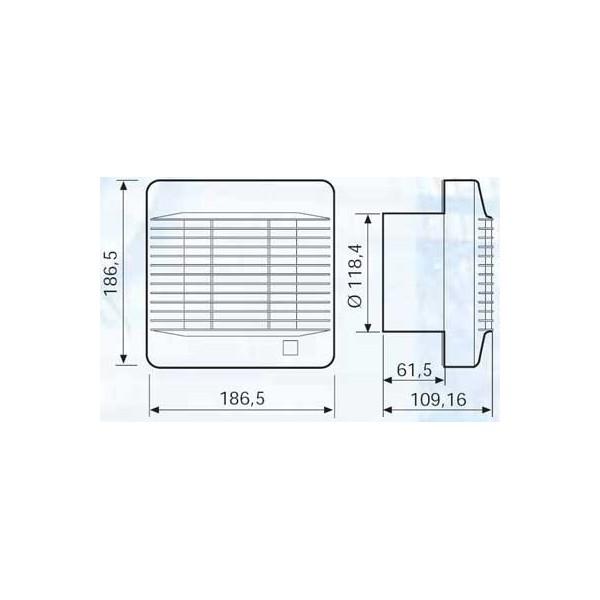 Extractor Baño S&p | Extractor Para Banos Y Aseos Edm 200 Suministroselectricos
